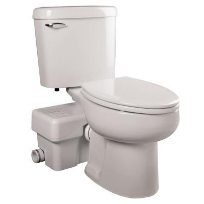 Ascent II 2-Piece 1.28 GPF Single Flush Elongated Macerating Toilet in White