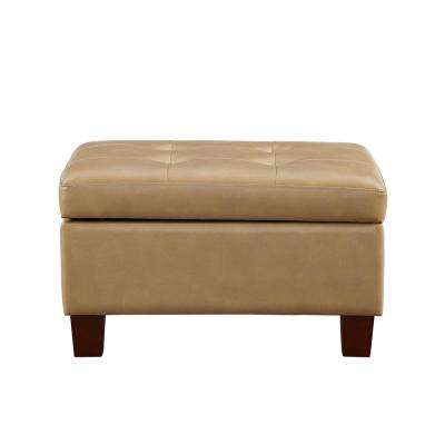 Avalon Taupe Tufted Storage Ottoman