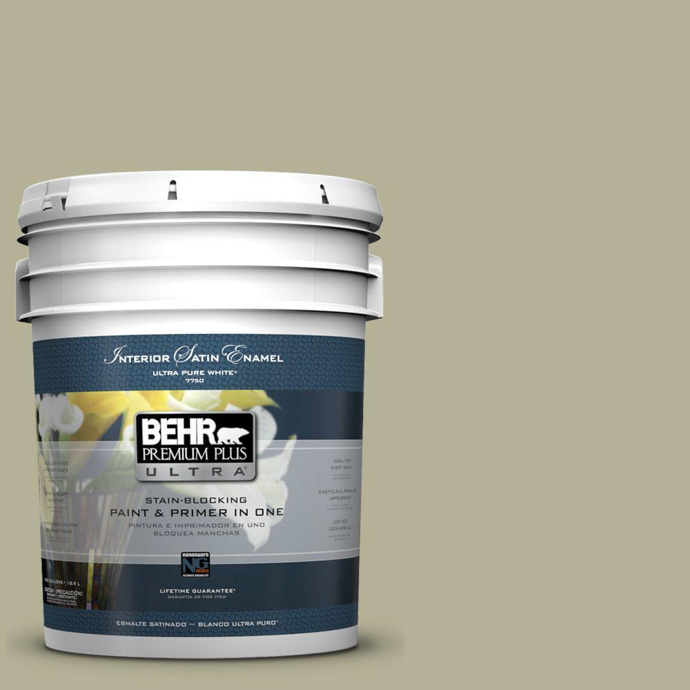 BEHR Premium Plus Ultra 5-gal. #PPU9-20 Dill Seed Satin Enamel Interior Paint