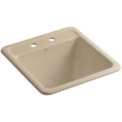 Park Falls 22 in. x 21 in. Cast Iron Drop-In/Undermount Utility Sink in Mexican Sand