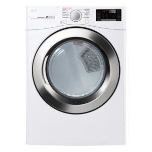 LG Electronics 7 4 cu ft  Ultra Large Capacity Electric Dryer with Sensor  Dry, Turbo Steam and Wi-Fi Connectivity in White-DLEX3700W - The Home Depot