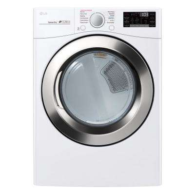 7.4 cu.ft. Ultra Large Capacity Electric Dryer with Sensor Dry, Turbo Steam and Wi-Fi Connectivity in White