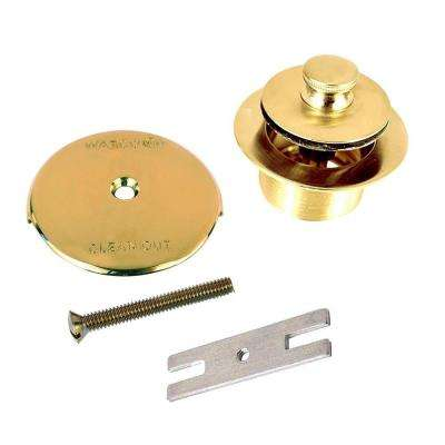 1.625 in. Overall Diameter x 16 Threads x 1.25 in. Push Pull Trim Kit, Polished Brass