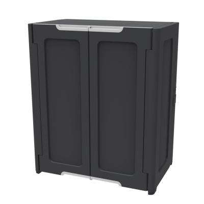 36 in. H x 30 in. W x 19 in. D Stackable Utility Base/Wall Freestanding Cabinet in Dark Grey