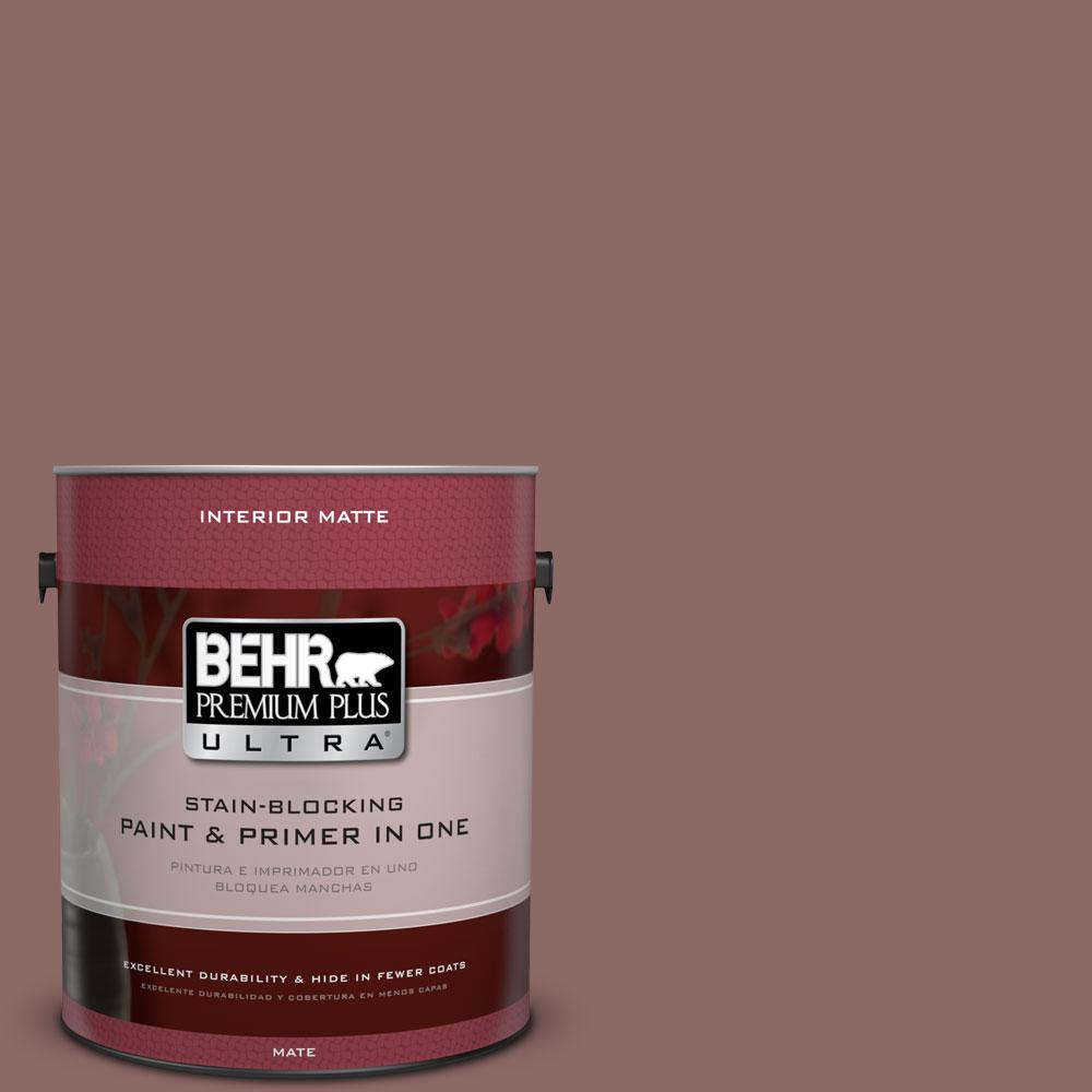 1 gal. #700B-5 Red Stone Flat/Matte Interior Paint