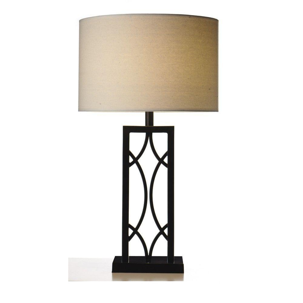 Home Decorators Collection Swoop 30 in. Bronze Round Table Lamp