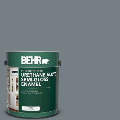 Behr 1 Gal Bnc 39 Peak Point Urethane Alkyd Semi Gloss Enamel Interior Exterior Paint 393001 The Home Depot