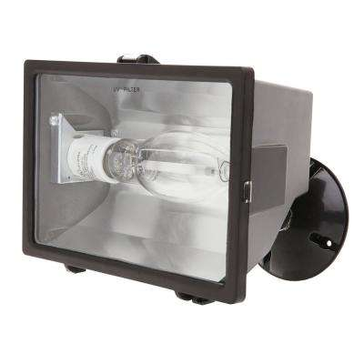 150-Watt Bronze Outdoor Landscape Flood Light with High Pressure Sodium Bulb