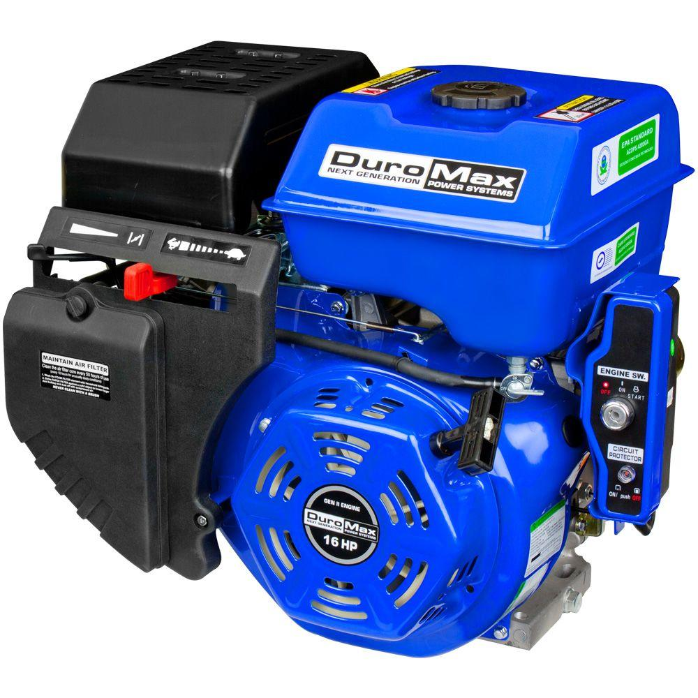Duromax Portable 16 HP 1 in. Shaft Gas-Powered Recoil/Electric Start Engine