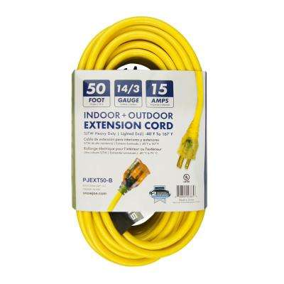 Power Joe 14 Gauge 50 ft. Low Temp Extension Cord with Lighted End