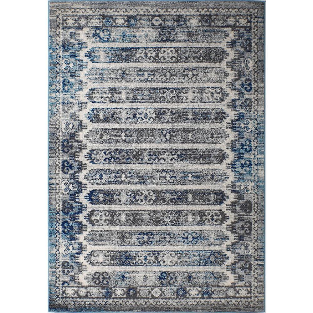 Marrakesh Cobblestone Gray 2 ft. x 4 ft. Rectangle Oriental Polypropylene Area Rug