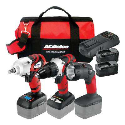 18-Volt Li-ion 3-in-1 Impact Wrench Combo Kit