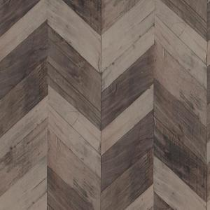 Click here to buy  Wood Weathered Herringbone Dark Brown Wallpaper.