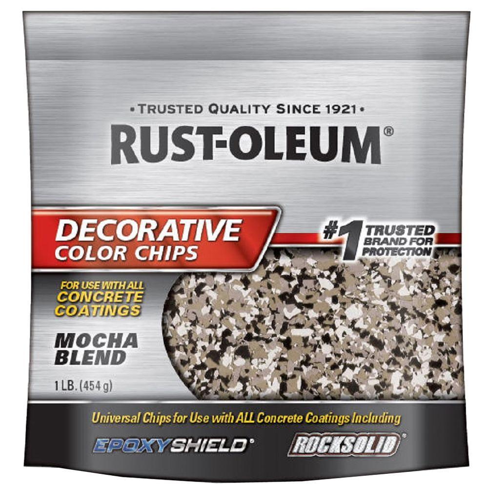 Rust-Oleum 1 lb. Mocha Decorative Color Chips