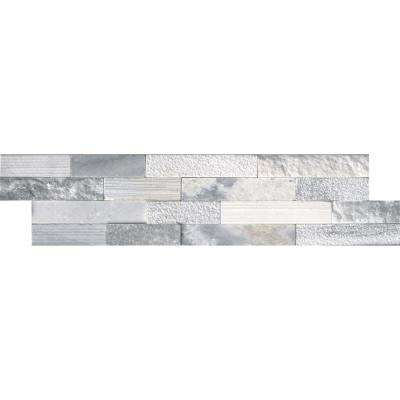 Alaska Gray Ledger Panel 6 in. x 24 in. Multi-Finish Natural Marble Wall Tile (10 cases / 60 sq. ft. / pallet)