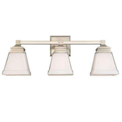 Landray 3-Light Brushed Nickel Vanity Light