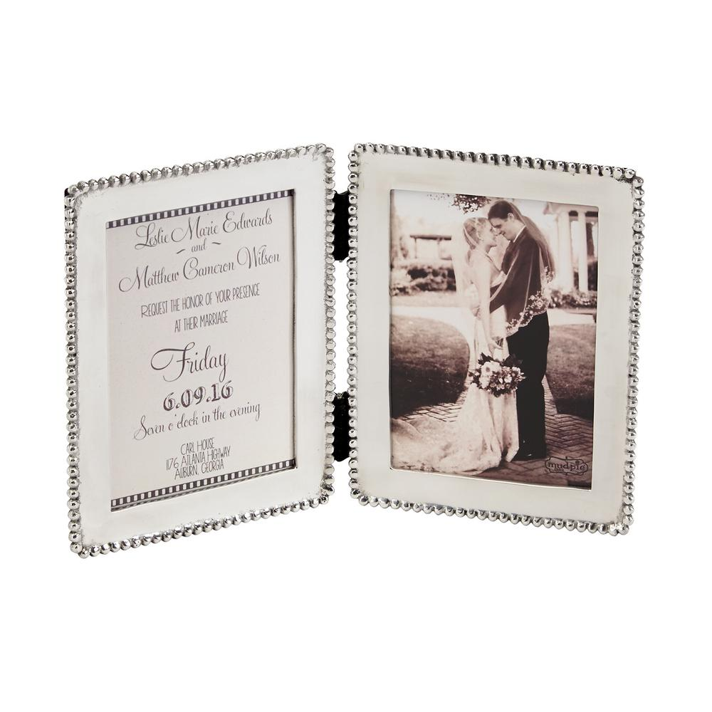 Microbead Polished Silver Picture Frame-4691068 - The Home Depot