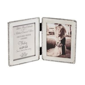 Microbead Polished Silver Picture Frame by