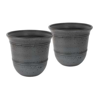 Stoneycreek 16 in. Dia Resin Planter (2-Pack)