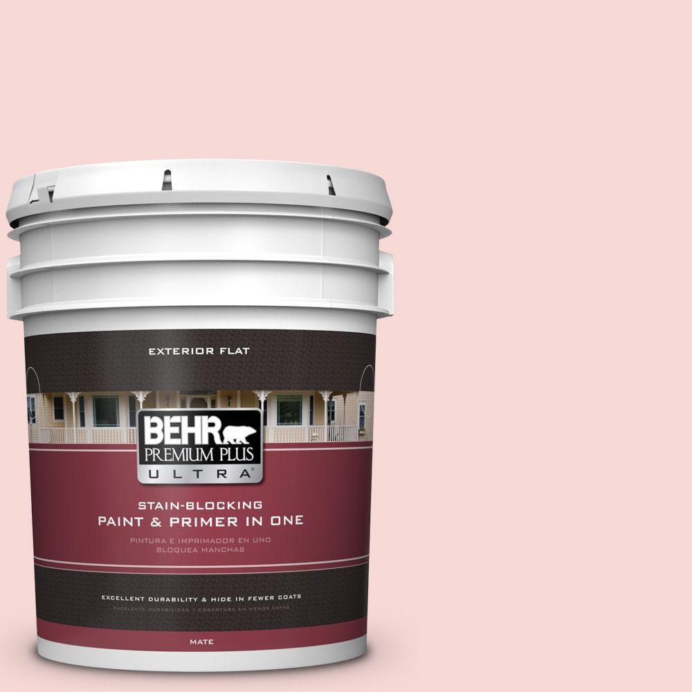 BEHR Premium Plus Ultra 5-gal. #M160-1 Cupcake Pink Flat Exterior Paint