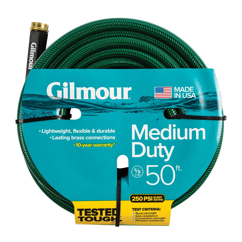 Gilmour 58 in Dia x 50 ft MediumDuty Water Hose1558050HD The