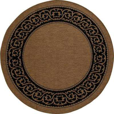 Plymouth Intention Natural 8 ft. x 8 ft. Round Indoor/Outdoor Area Rug