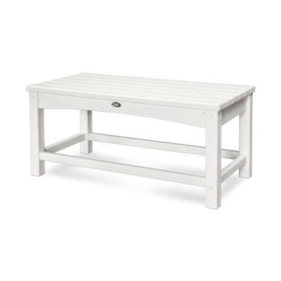 Rockport Club Classic White Patio Coffee Table