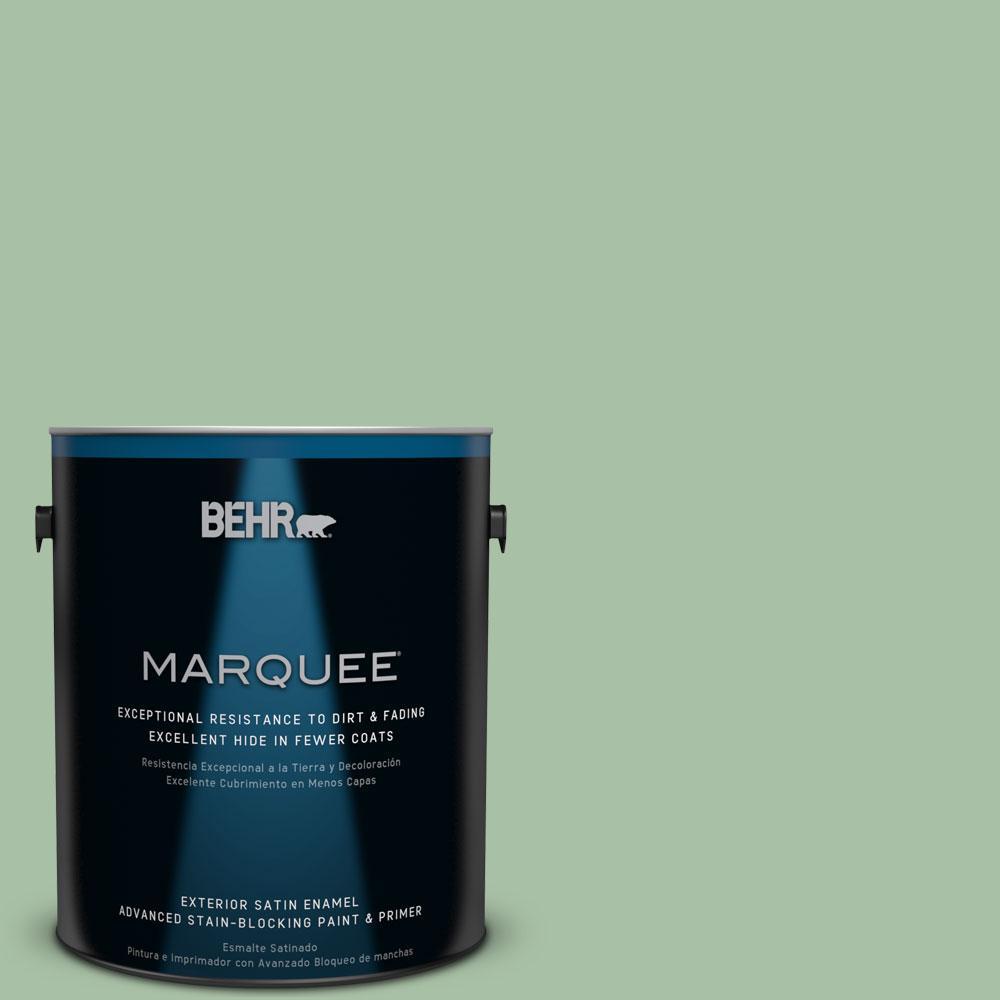 BEHR MARQUEE 1-gal. #S400-5 Gallery Green Satin Enamel Exterior Paint