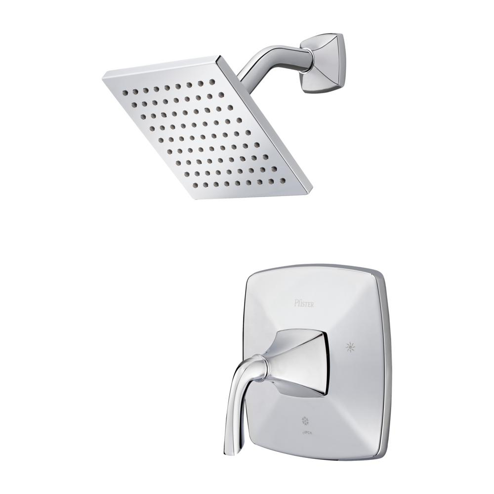Bronson 1-Handle Shower Faucet Trim Kit in Polished Chrome (Valve Not Included)