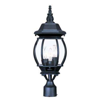 Chateau 3-Light Matte Black Outdoor Post-Mount Light Fixture
