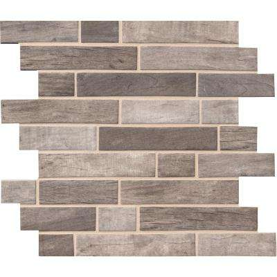 Driftwood Interlocking 12 in. x 12 in. x 6mm Glass Mesh-Mounted Mosaic Tile (14.55 sq. ft. / case)