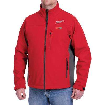 Men's X-Large M12 12-Volt Lithium-Ion Cordless Red Heated Jacket Kit with (1) 2.0Ah Battery and Charger