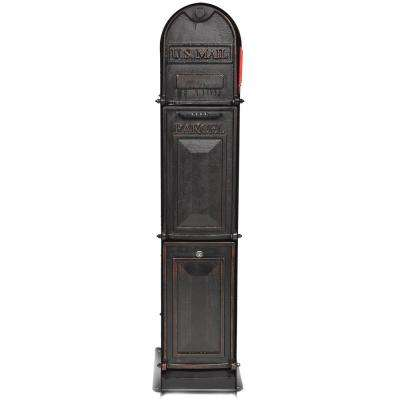 Classic Shadow 3-Door Front Access Lockable Ground Mount Mailbox in Oil Rubbed Bronze