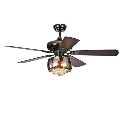 Nettle 52 in Indoor Antique Black Ceiling Fan with Light Kit and Remote Control