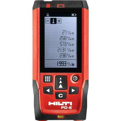 656 ft. PD-E Laser Range Meter with (2) AAA Batteries, Hand Strap and Pouch