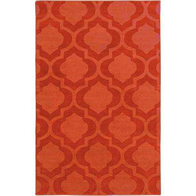 Central Park Kate Burnt Orange 8 ft. x 10 ft. Indoor Area Rug