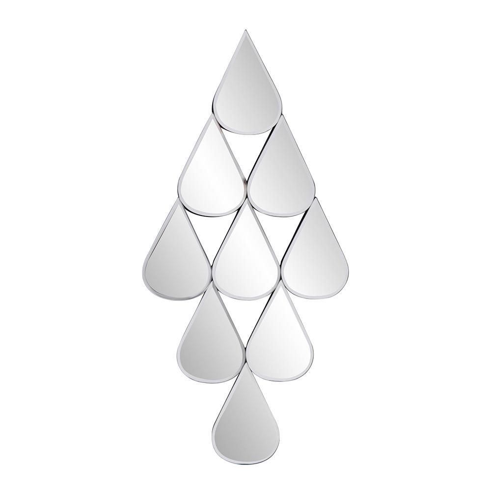 25 in. H x 12 in. W Irregular Mirrored Frame Niobe Contemporary Style Wall Mirror