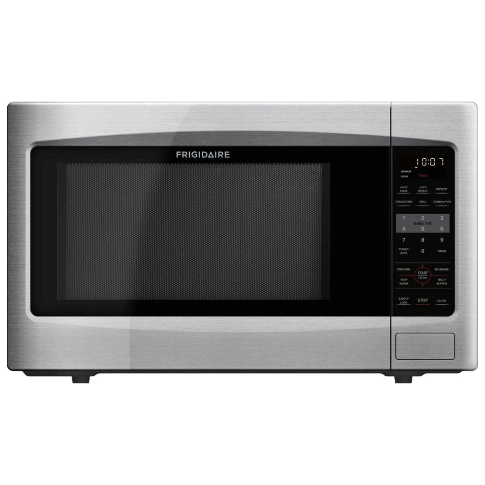 Frigidaire 1 2 Cu Ft Countertop Microwave With Convection In Stainless Steel