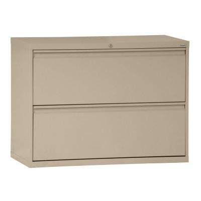 800 Series 36 in. W 2-Drawer Full Pull Lateral File Cabinet in Tropic Sand