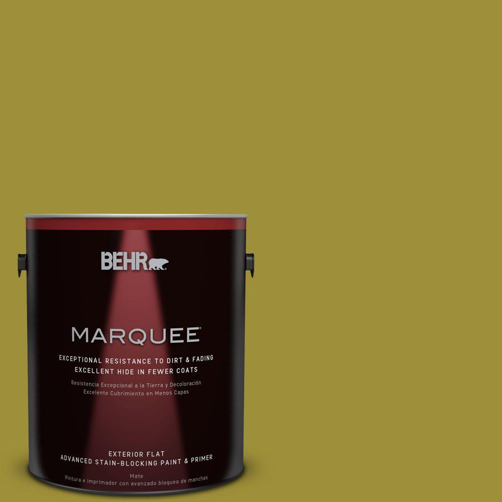 Home Decorators Collection 1-gal. #HDC-MD-20 Banana Leaf Flat Exterior Paint