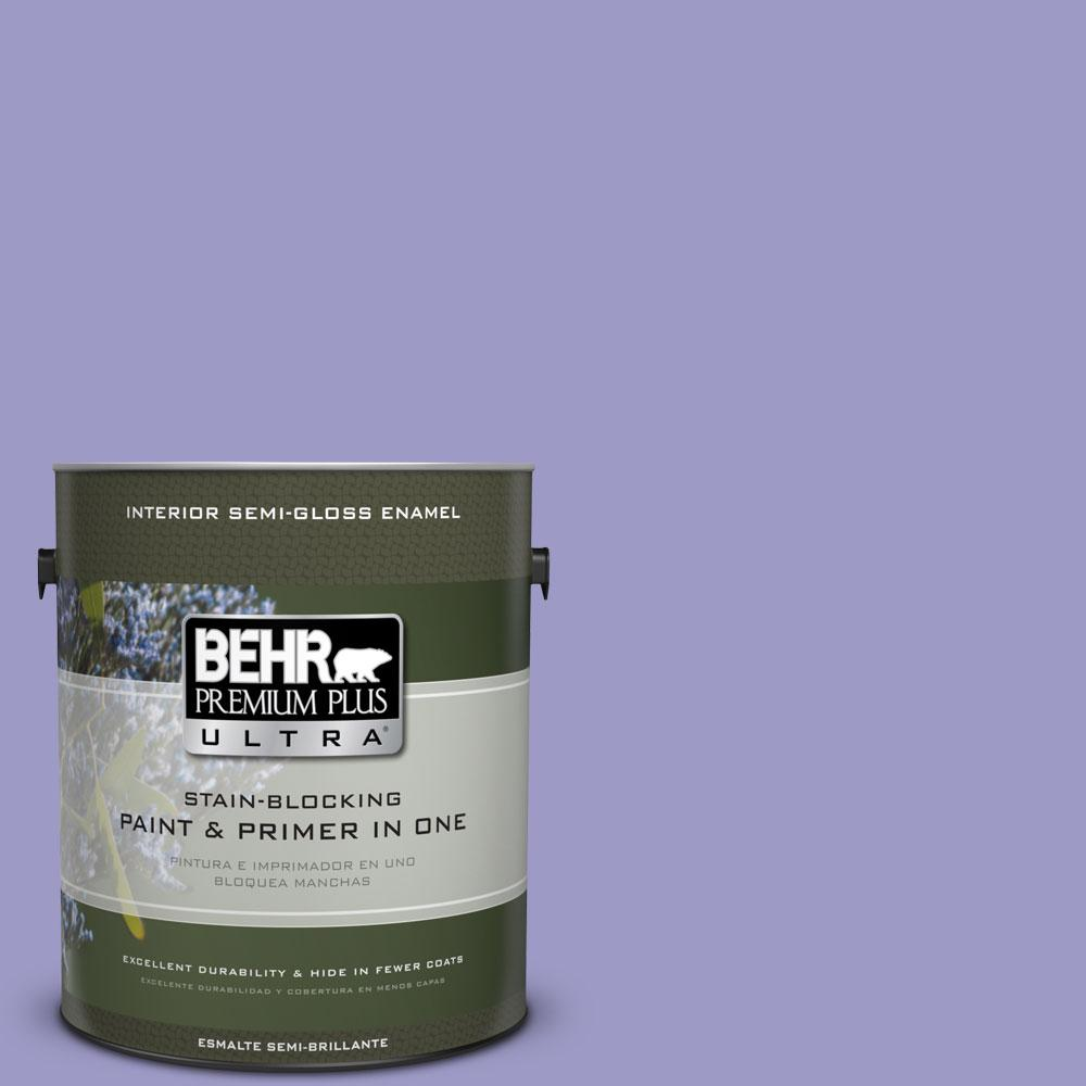 1-gal. #630B-5 Majestic Violet Semi-Gloss Enamel Interior Paint