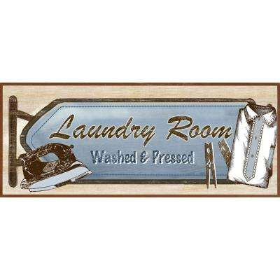 "15 in. x 6 in. ""Moms Laundry B"" Framed Wall Art"