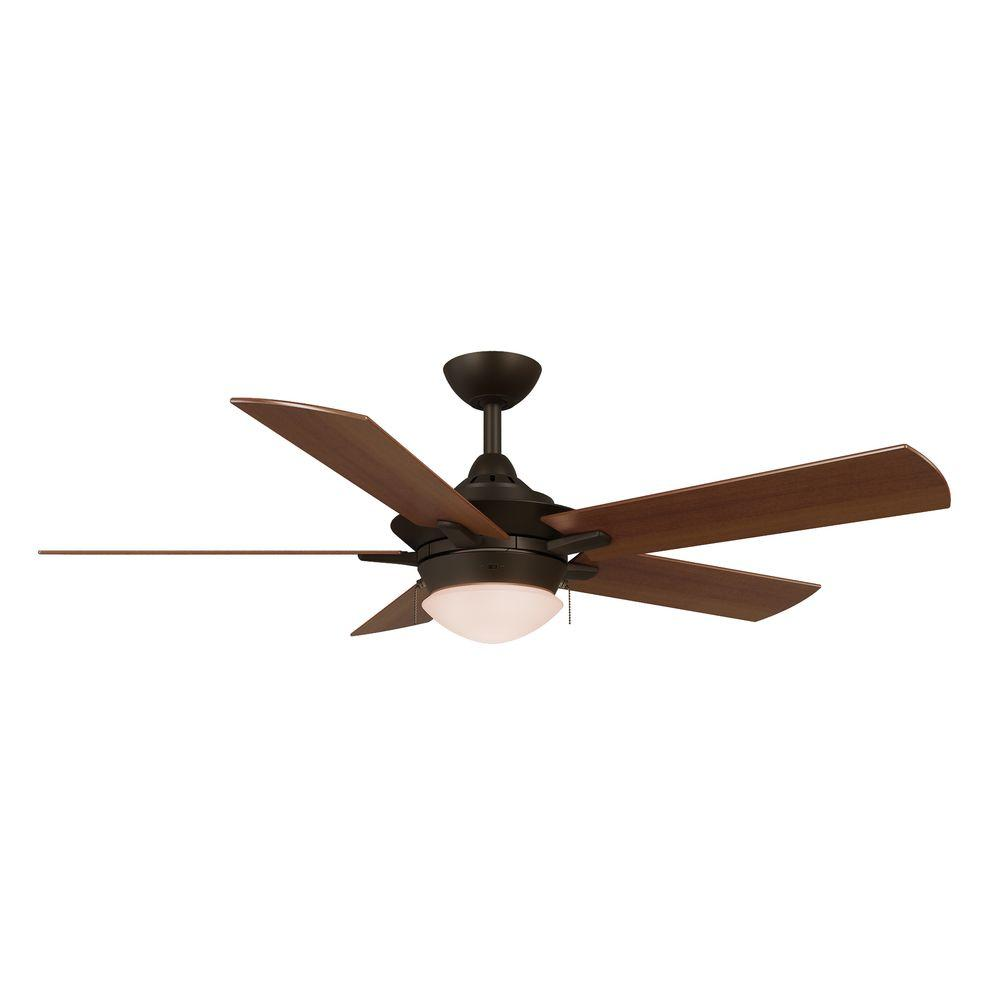 Home Decorators Collection Edgemont 52 In Led Indoor Espresso Bronze Ceiling Fan With Light Kit