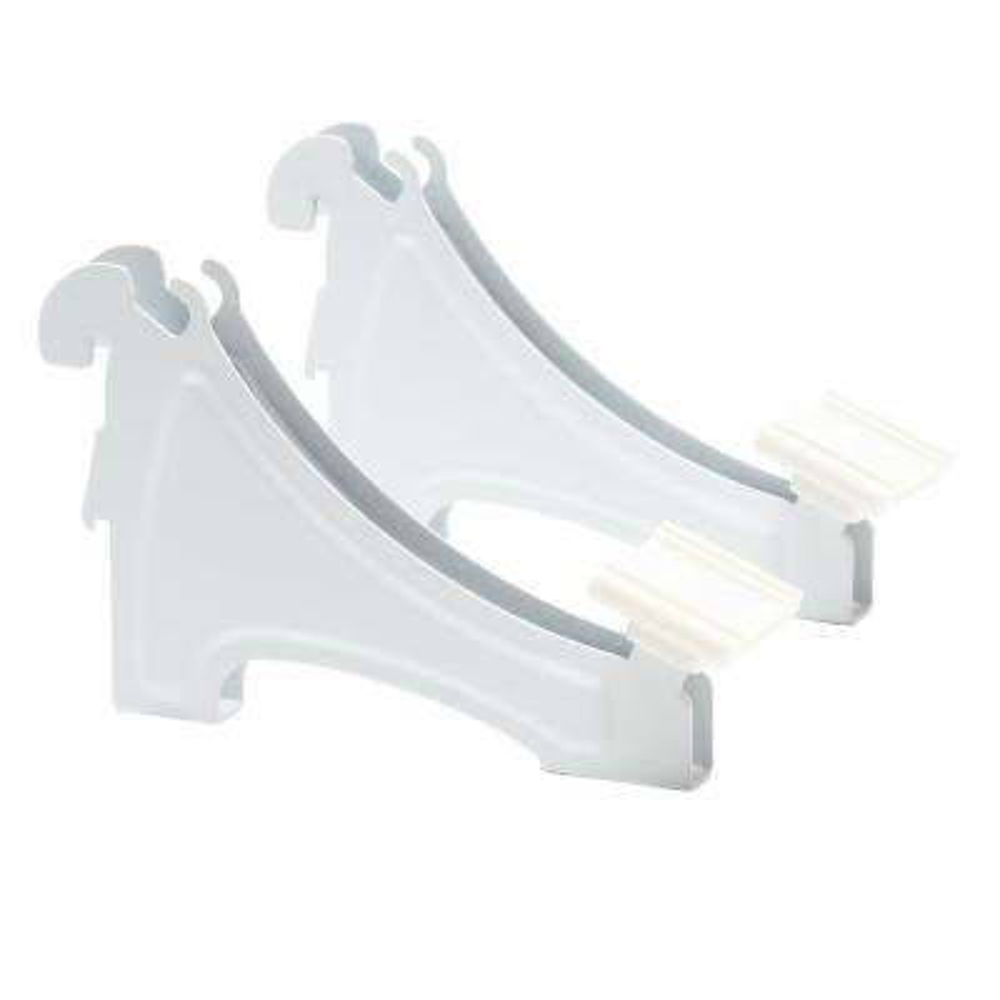 ShelfTrack 3 in. H Shoe Shelf Brackets for Wire Shelving (2-Pack)
