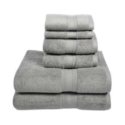 Aertex 6-Piece Microcotton Towel Set in Steel