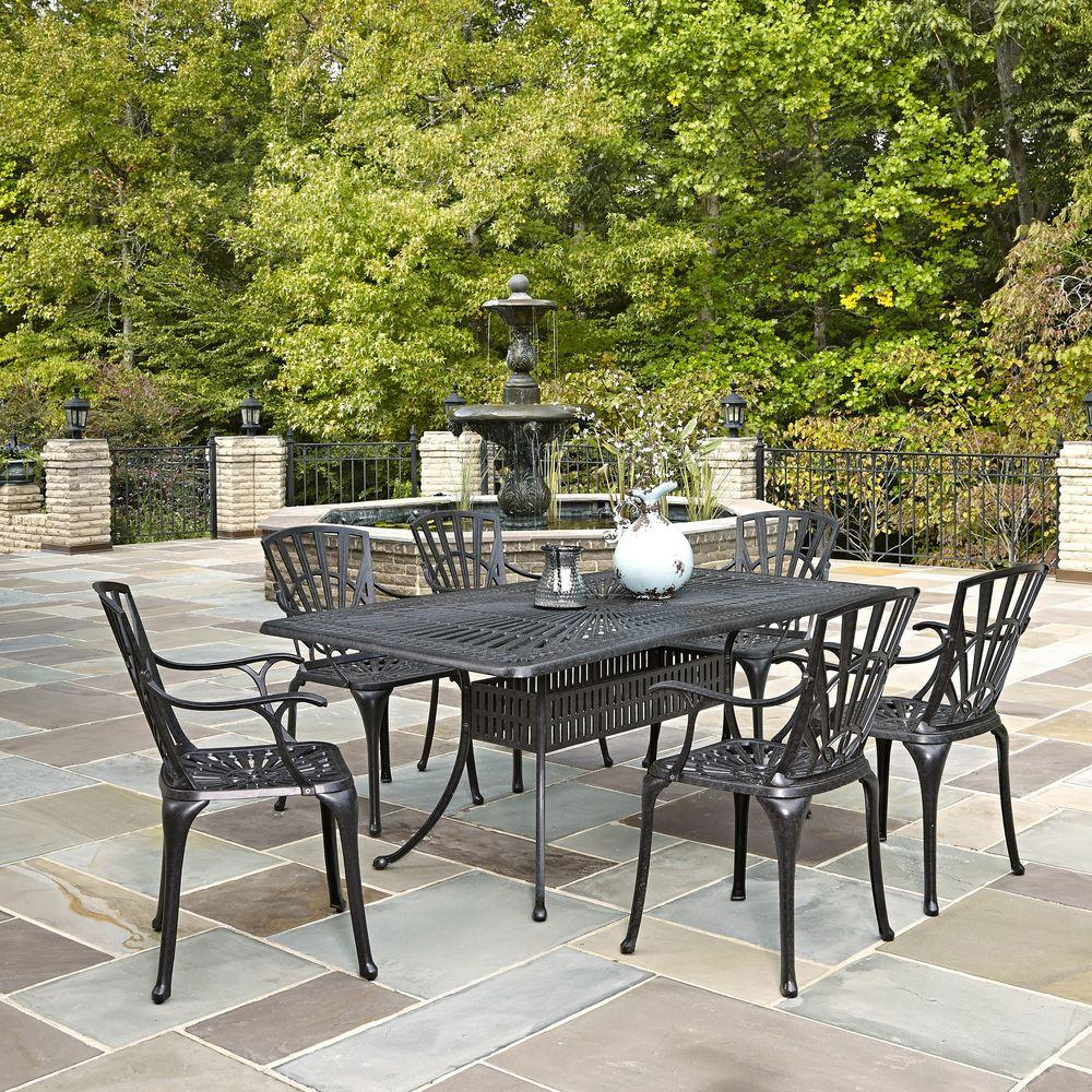 home styles largo 7 piece outdoor patio dining set 5560 378 the rh homedepot com replacement fabric for hampton bay patio furniture hampton bay patio furniture reviews