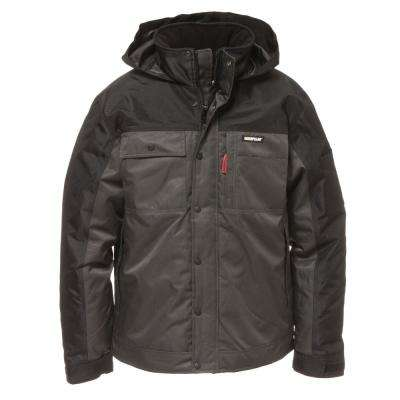 Insulated Twill Men's Size X-Large Graphite/Black Polyester Water Resistant Insulated Jacket