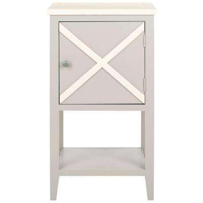 Ward Gray and White Storage Side Table