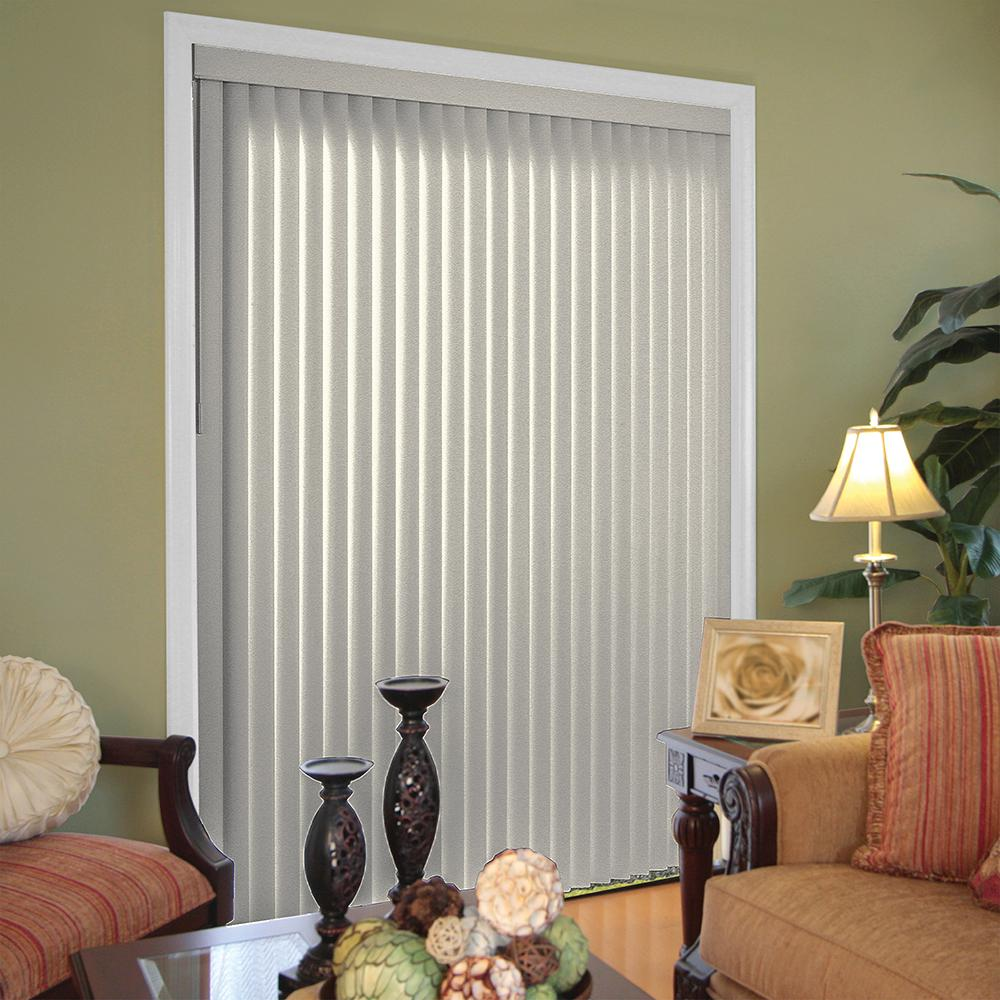Pearl Gray 3.5 in. Vertical Blind - 78 in. W x
