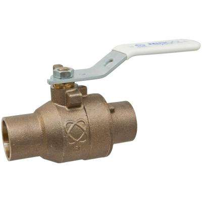 1/2 in. Lead Free Bronze S x S Pressure Rated Ball Valve